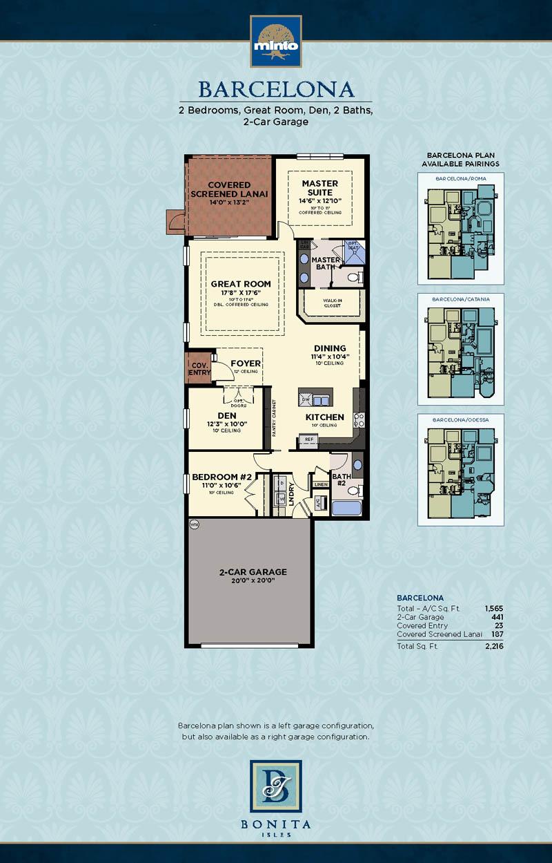 Bonita Isles Floor Plans