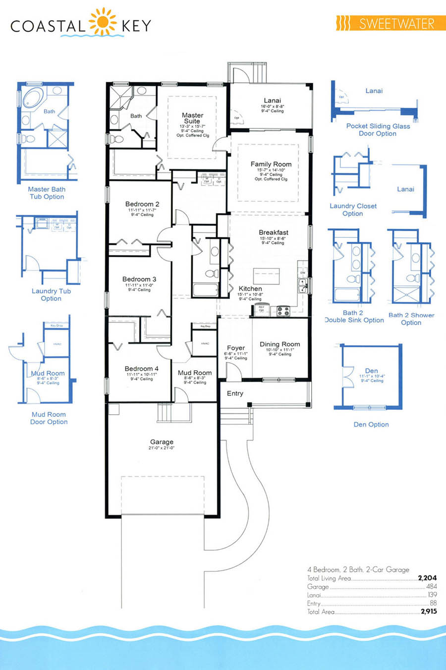 coastal key floor plans house plans coastal linwood custom homes