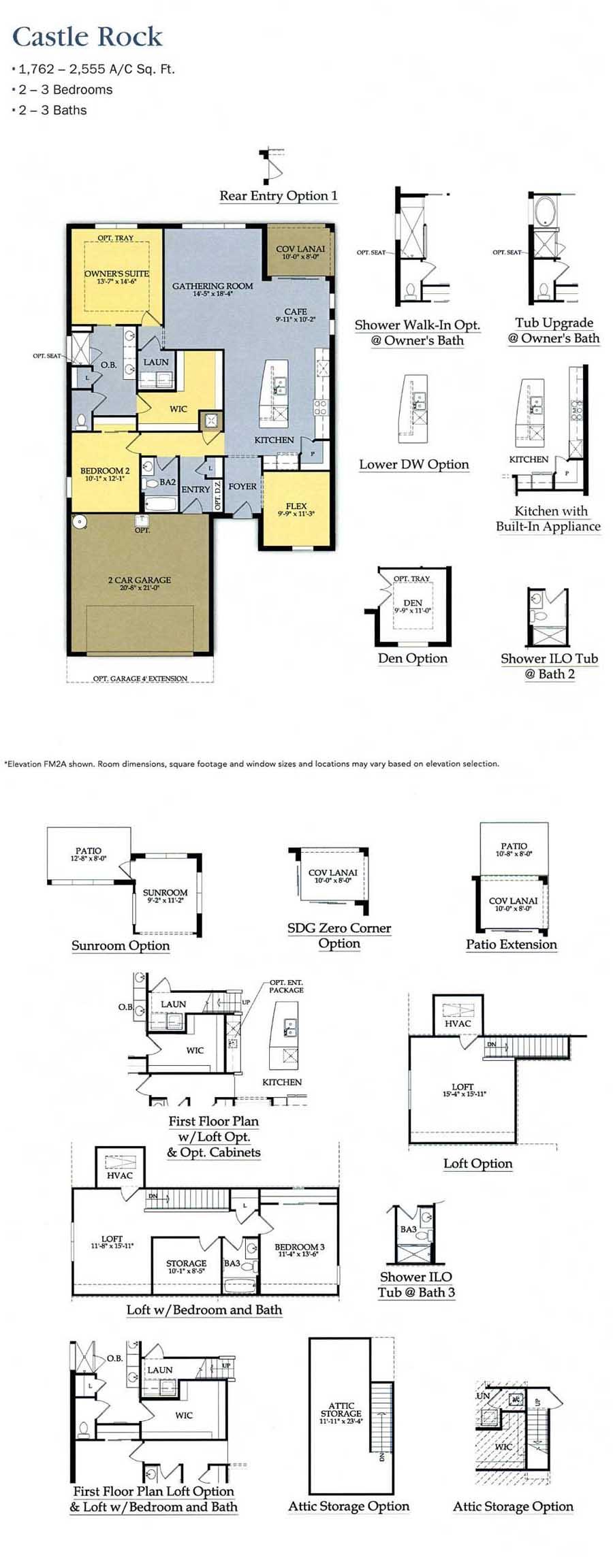 Corkscrew shores floor plans for Castle rock floor plans