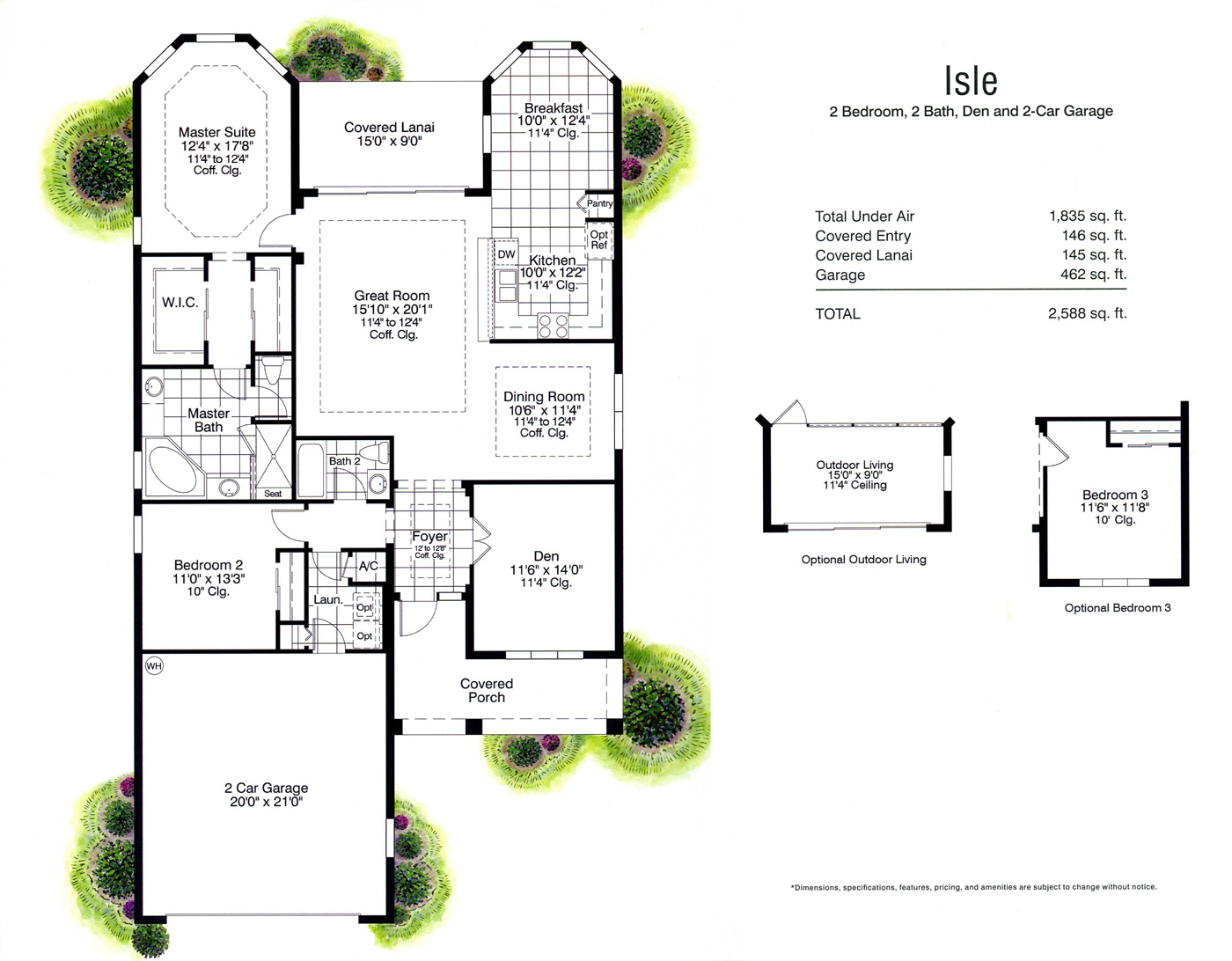 Verandah country club floor plans genice sloan associates for Country plans owner builder