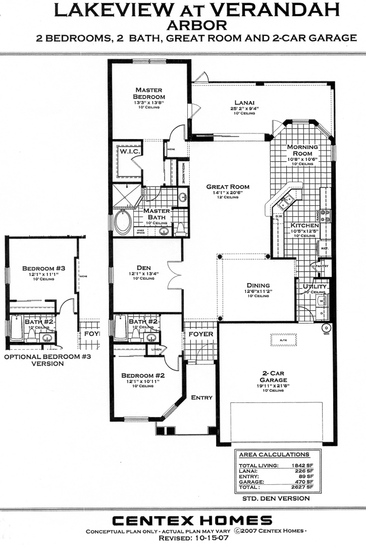 Centex home floor plans florida for Florida home builders floor plans